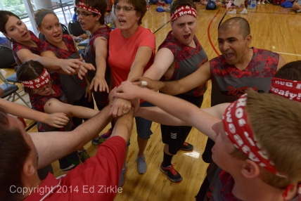 Special Olympics Ohio Summer Games 2014 Saturday action of gymnastics, weight lifting, volleyball and softball throw.